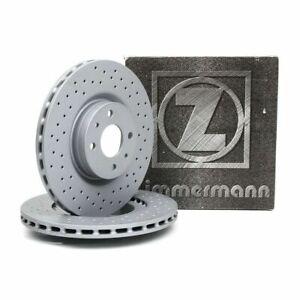 Paar Bremsscheiben Vorne Perforiert 284mm Zimmermann Abarth 500/595 1.4 Turbo