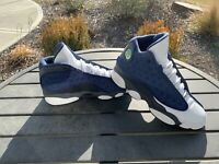 Nike Air Jordan 13 Retro Flint GS Size 4.5Y Blue Grey 884129-404