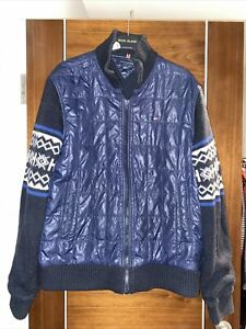 Tommy Hilfiger Men's Mixed Wool Sleeves  Padded Jacket Size L