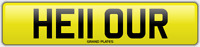 UR INITIALS number plate Hello CHERISHED REGISTRATION NO ADDED FEES HE11 OUR REG