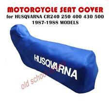 MOTORCYCLE SEAT COVER HUSQVARNA CR240 CR250 CR400 CR430 CR500 1987-1988 BLUE