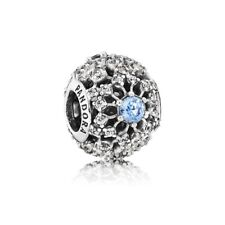 "Original PANDORA charm Disney 791592cfl ""Cinderella's wish"" circonita plata 925"