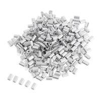 100Pcs/Lot Aluminum Oval Barrel Crimp Sleeves 0.8mm/1mm/1.2mm/1.5mm 4 Sizes