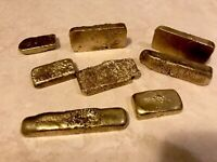 136 grams Scrap gold bar for Gold Recovery melted different computer coin pins