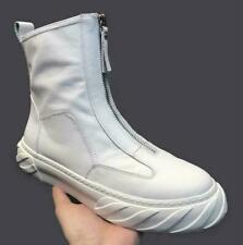 Mens Pumps Leather High Top Zipper Chelsea Round Toe Outdoor British Casual Boot