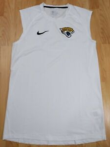 Men's L white Nike Dri-Fit NFL Jacksonville Jaguars Sleeveless Lightweight Shirt