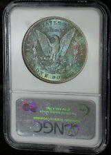 1886 NGC MS65 Gem Colorful Toned Morgan Dollar (ap2332)