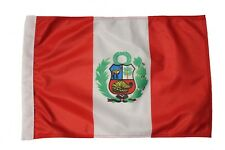 "PERU Country Flag 12 ""X 18"" Inch CAR STICK FLAG BANNER WITHOUT POLE..New"