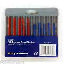 Nupower 10 Of Jigsaw Blades,5 Blades For Wood & 5 Blades For Metal