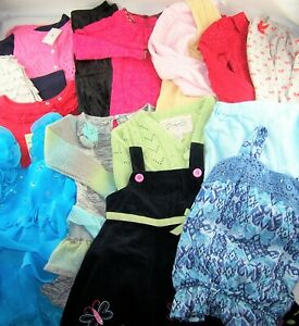 HUGE LOT Girls clothes 4T 4 5 boutique dresses sweater jacket fall winter shirts