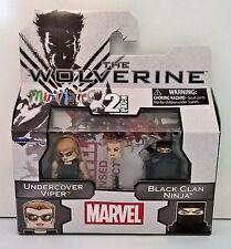 Marvel Minimates The Wolverine 2 pk Wolverine Undercover Viper/Black Clan Ninja