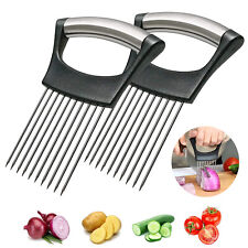 Food Slice Assistant Onion Slicer Cutter Fish Meat Potato Vegetable Holder Tools