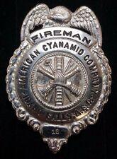 Vtg 1950s American Cyanamid Company Fireman Badge Atomic Energy INTEC INEL Idaho