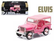 "1960 JEEP SURREY CJ3B ""PINK JEEP"" ELVIS PRESLEY 1/43 DIECAST BY GREENLIGHT 86472"