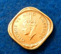 AU//UNC RED Excellent Scarce Coin 1939 BRITISH INDIA 1//4 ANNA BIN #AAA