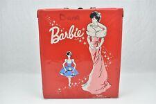 Barbie Doll Carrying Case Red Vinyl 1962 Mattel Ponytail