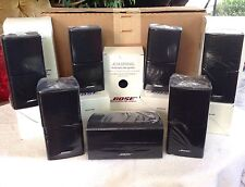 7 Mint Bose Double Cube Speakers 1 Center Channel and 6 Surround Black 7.1 / 7.2