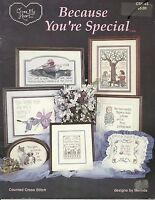 "Cross My Heart Inc ""Because You're Special""  Counted Cross Stitch Pattern"