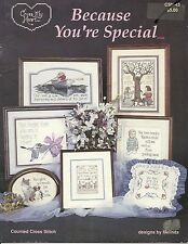 """Cross My Heart Inc """"Because You're Special""""  Counted Cross Stitch Pattern"""