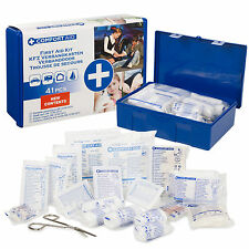 41Pc Compact Medical First Aid Kit Travel Box Emergency Workplace Home Car Offic