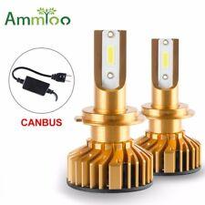 2pcs Car H7 Canbus LED Lamp Headlight Kit White 72W 12000LM Beam Bulbs 6000K