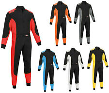 Kart Race Rally suits overall Poly Cotton One Piece Karting Suit Adult Sizes NEW