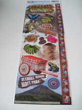"""Scrapbooking Stickers Cardstock Paper House 13"""" Costa Rica Coffee Beans Turtle"""