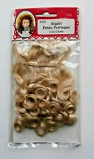Vintage Fibre Craft Hair Wig Doll Parts Blond 5 inches New Doll making repair