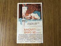 CARTOLINA TEATRO GRECO DI SIRACUSA BACCANTI EDIPO RE VIAGGIATA 1922 55