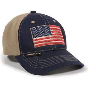 Outdoor Cap Unisex-Adult American Flag, Navy/Khaki, Adult