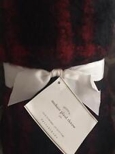 NEW POTTERY BARN FAUX MOHAIR RED BLACK PLAID THROW Buffalo Check Christmas Lodge