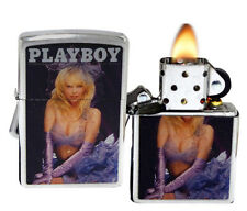 Zippo 200 Playboy Cover August 1986 Brushed Chrome Windproof Lighter NEW 1194