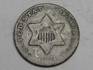 1853 3¢ Cent Silver.  #26