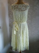COAST lemon lace occasion dress size 16