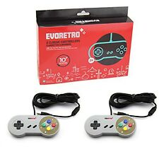 USB SNES Controllers (2-Pack) Classic Nintendo  Gamepads w/ 10 Cord