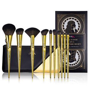 Jessup Makeup Brushes Set 10Pcs Face Powder Foundation Blush Cosmetic Gift Set