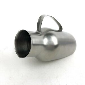 Vintage Stamped US Military Medical Vollrath Stainless Steel Male Urinal