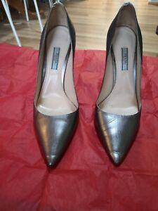 Prada Milano Silver Heels 40. Excellent condition