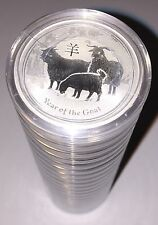 2015 Australia Silver 1/2 Oz Year Of The Goat- Sealed Roll Of 20 Coins