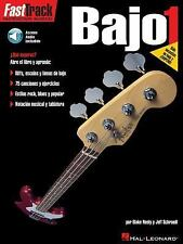 Hal Leonard FastTrack Bass Guitar Lessons HOW TO in Espanol Spanish L1 SALE