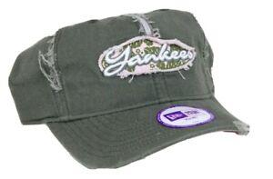 New Era Hat New York Yankees, New Era Fits Youth 54cm Adjustable Green/Pink Fray