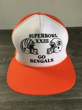 Suberbowl XXIII Snapback Hat Go Bengals Trucker Mesh Richardson NFL Rope Bill
