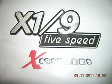 fiat x1/9 x19 boot lid badge 1982 1500 5 speed FREE DELIVERY
