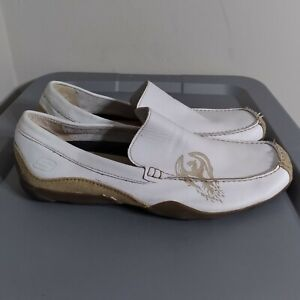 Skechers Phoenix Men's Size 12M Shoes White/Brown Leather Comfort Walk Loafers