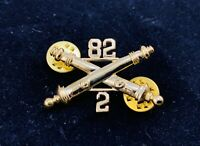 🌟US Army 82nd 2/82 Field Artillery Crossed Cannon Hat Lapel Tie Pin, 1-1/2""