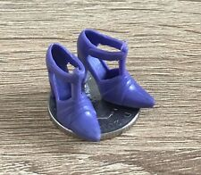 1:12 Scale Pair Of Lilac Ladies Plastic Shoes Tumdee Dolls House Miniature P3