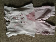 Camiseta de manga corta Niñas & Leggings Paquete. George la edad de 0-3 meses.