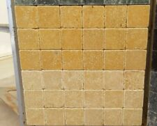 Piastrelle - Mosaico 10x10 in pietra marmo Giallo Reale per rivestimenti