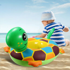 Inflatable Tortoise Swimming Float Seat Baby Kids Boat Pool Ring Water Fun Toys