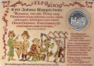 Reppichau 850 Jahre Plastikgedenkkarte mit Münze ngl G0285
